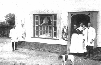 The Cox family's butchers shop at  Truroes about 1900