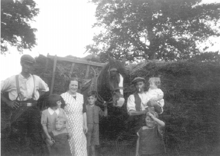The Berry family at West Backstone 1939