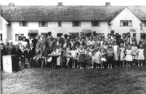 The annual sports outside Meadow View, 1954