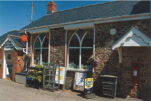 The Community Shop, previously the school and site of the poor house